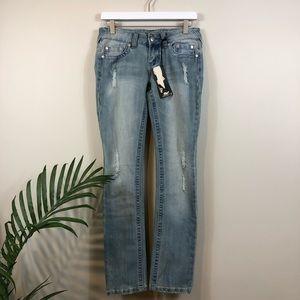 ARDEN B. Light Wash Skinny Distressed Jeans 4 NWT